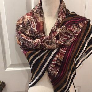 Audrey Talbott Carmel silk scarf
